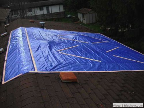 Perform A Roof Tarp When There Is An Active Leak