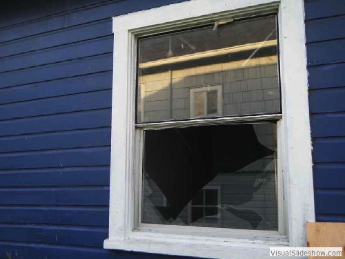 Before - A window with only the sliding pane broken